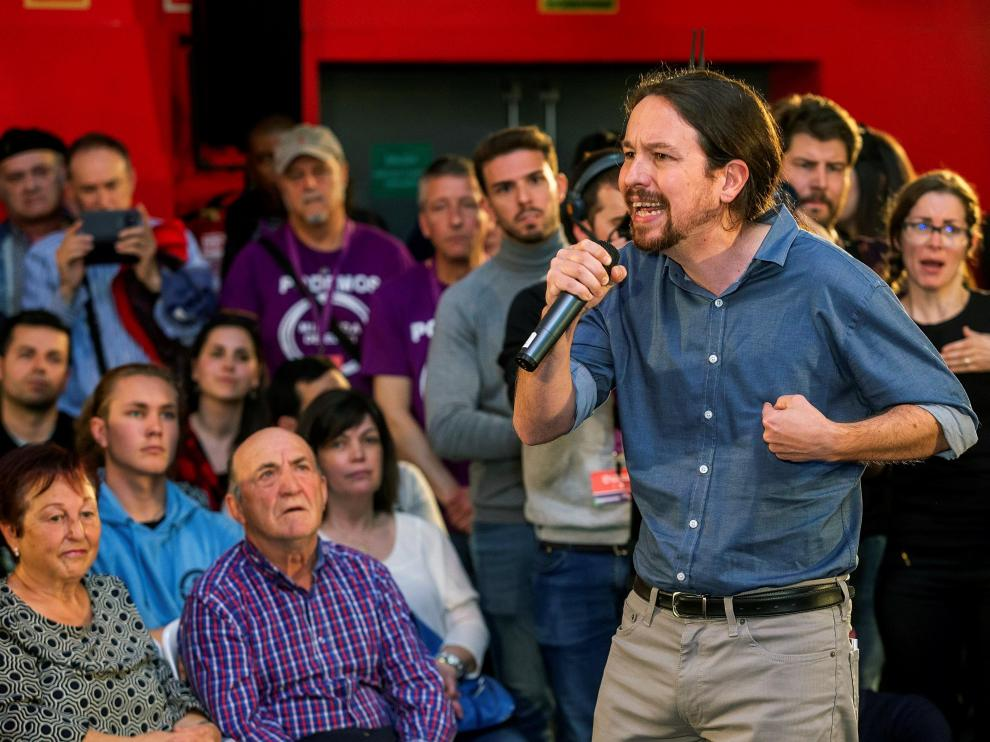 Pablo Iglesias en un acto celebrado este sábado.