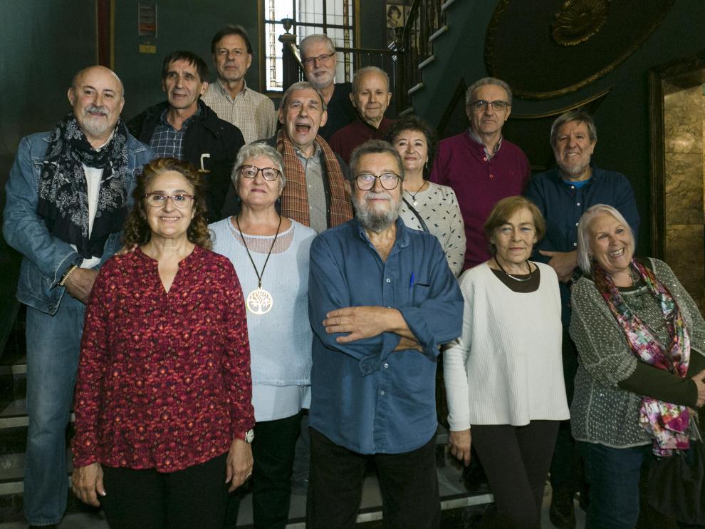Algunos de los protagonistas del Primer Encuentro de la Música Popular en Aragón, en noviembre en el Teatro Principal.