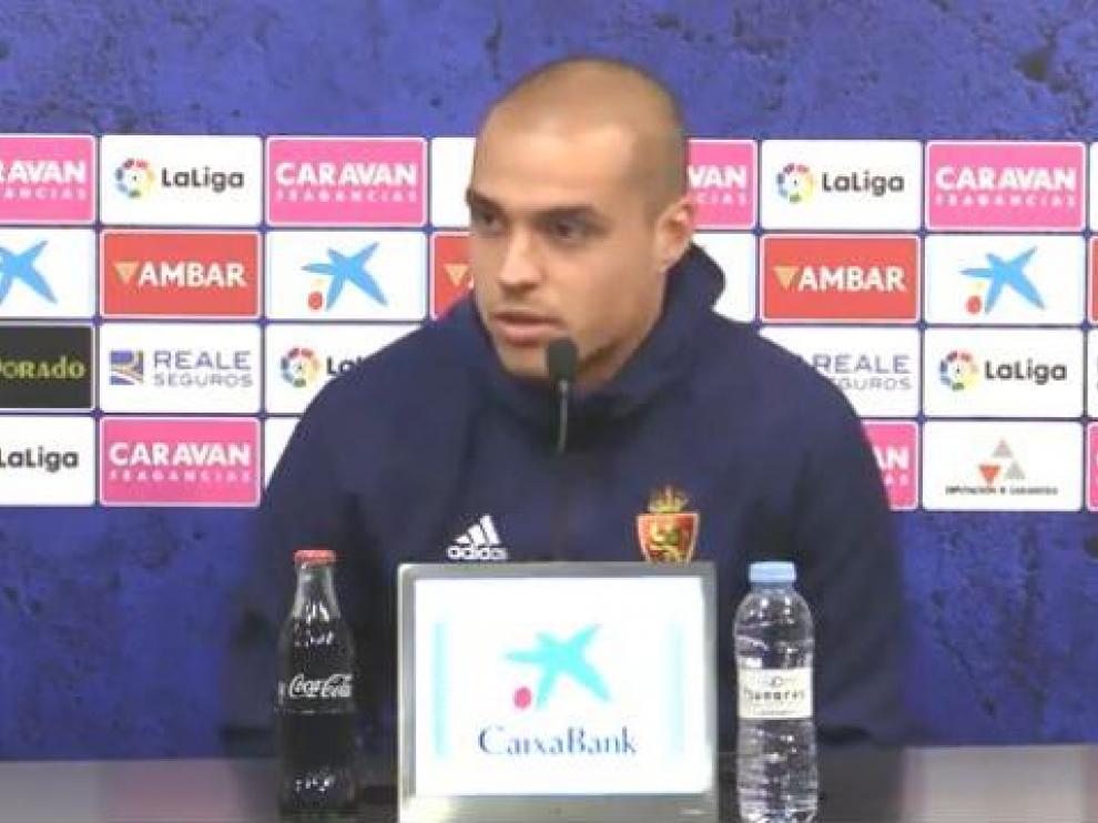 Jorge Pombo, en la mañana de este miércoles, durante su rueda de prensa en la Ciudad Deportiva.