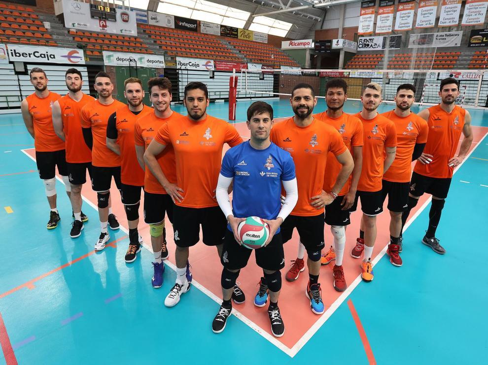 El Club Voleibol Teruel, listo para competir en Los Planos