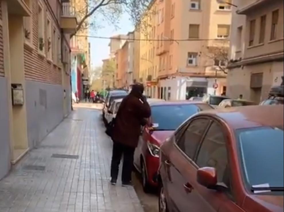 Imagen del vídeo que ha publicado la Policía Local de Zaragoza en Twitter.