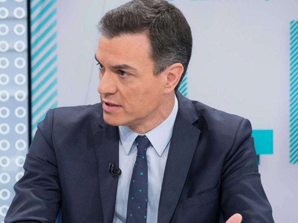 El líder del PSOE y presidente del Gobierno, Pedro Sánchez, en una entrevista en TVE.