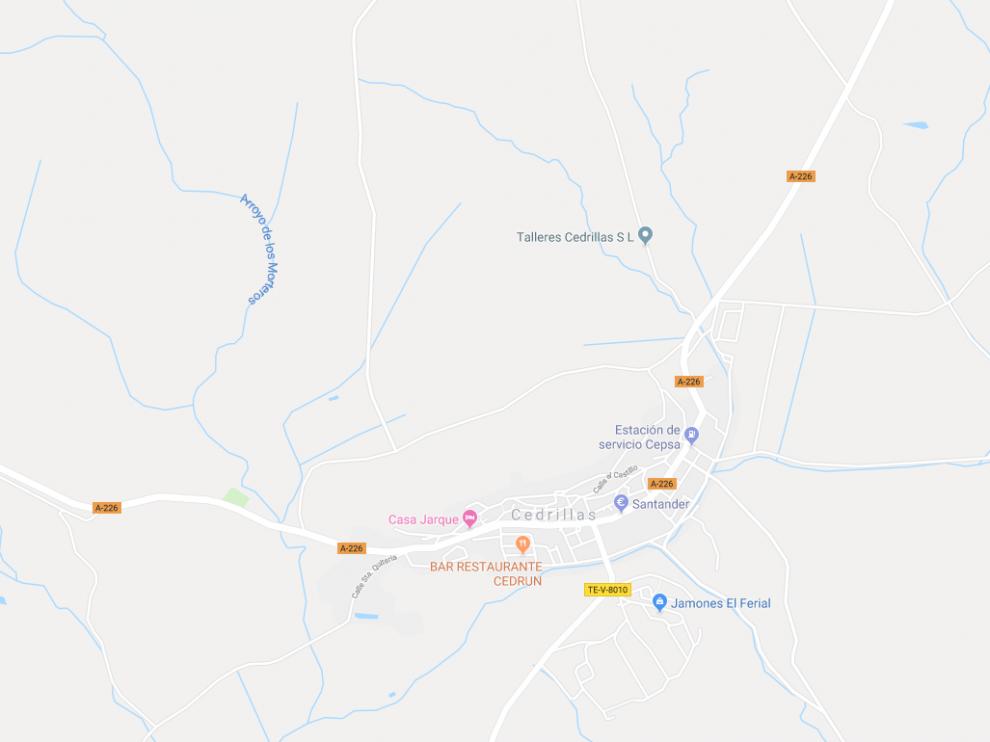 El accidente de tráfico ha tenido lugar en el kilómetro 23,050 de la A.226, en el término municipal de la localidad turolense de Cedrillas.