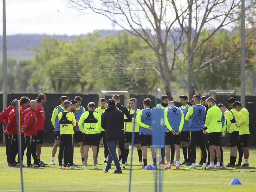 Entrenamiento de la SD Huesca en la ECA / 26-4-19 / Foto Rafael Gobantes [[[FOTOGRAFOS]]]
