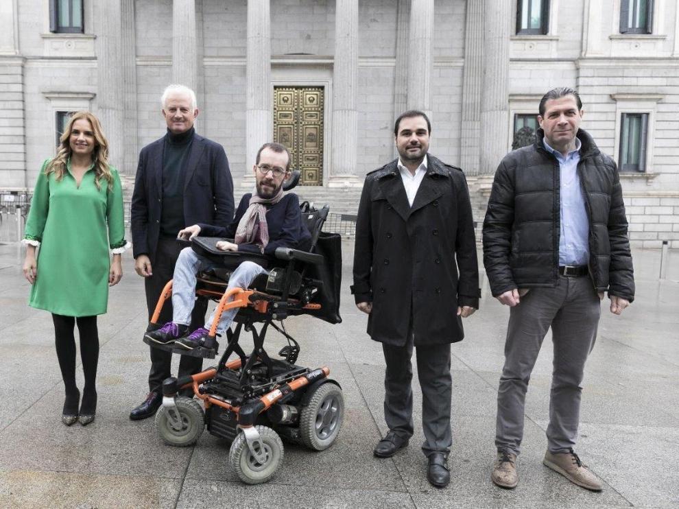 Los candidatos por Zaragoza al Congreso de los Diputados del PSOE, PP, Cs, Unidas Podemos y Vox