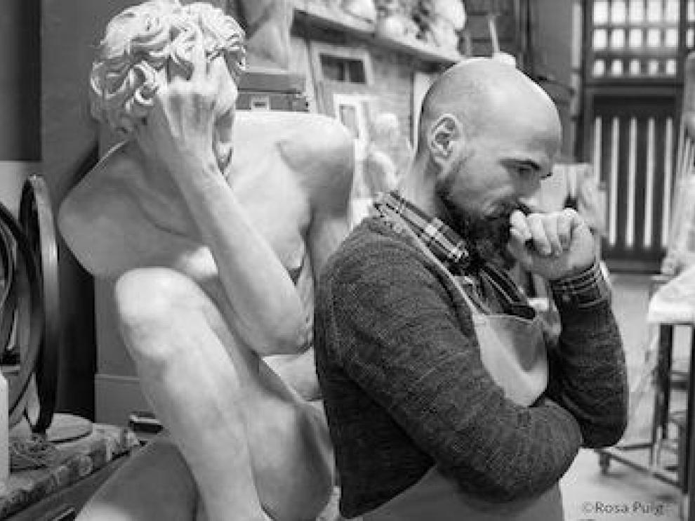 El escultor zaragozano Jorge Egea Izquierdo.