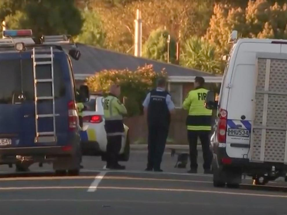 Police officers and vehicles are seen behind police cordon, in Christchurch, New Zealand in this still image taken from video April 30, 2019. TVNZ via Reuters TV ATTENTION EDITORS - THIS IMAGE HAS BEEN SUPPLIED BY A THIRD PARTY. NO RESALES. NO ARCHIVES. NEW ZEALAND OUT. AUSTRALIA OUT.   Broadcasters: NO USE NEW ZEALAND Digital: NO USE NEW ZEALAND INTERNET SITES / ANY INTERNET SITE OF ANY NEW ZEALAND OR AUSTRALIA BASED MEDIA ORGANISATIONS OR MOBILE PLATFORMS . For Reuters customers only. [[[REUTERS VOCENTO]]] NEWZEALAND-SECURITY/