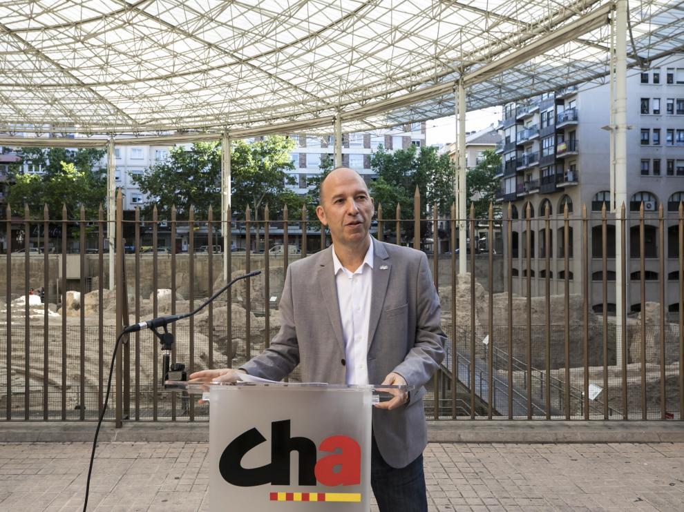 Carmelo Asensio, el pasado 30 de abril en Zaragoza