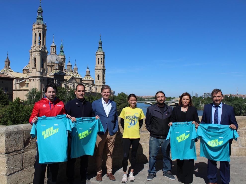 Presentación de la Sanitas Marca Running Series en Zaragoza