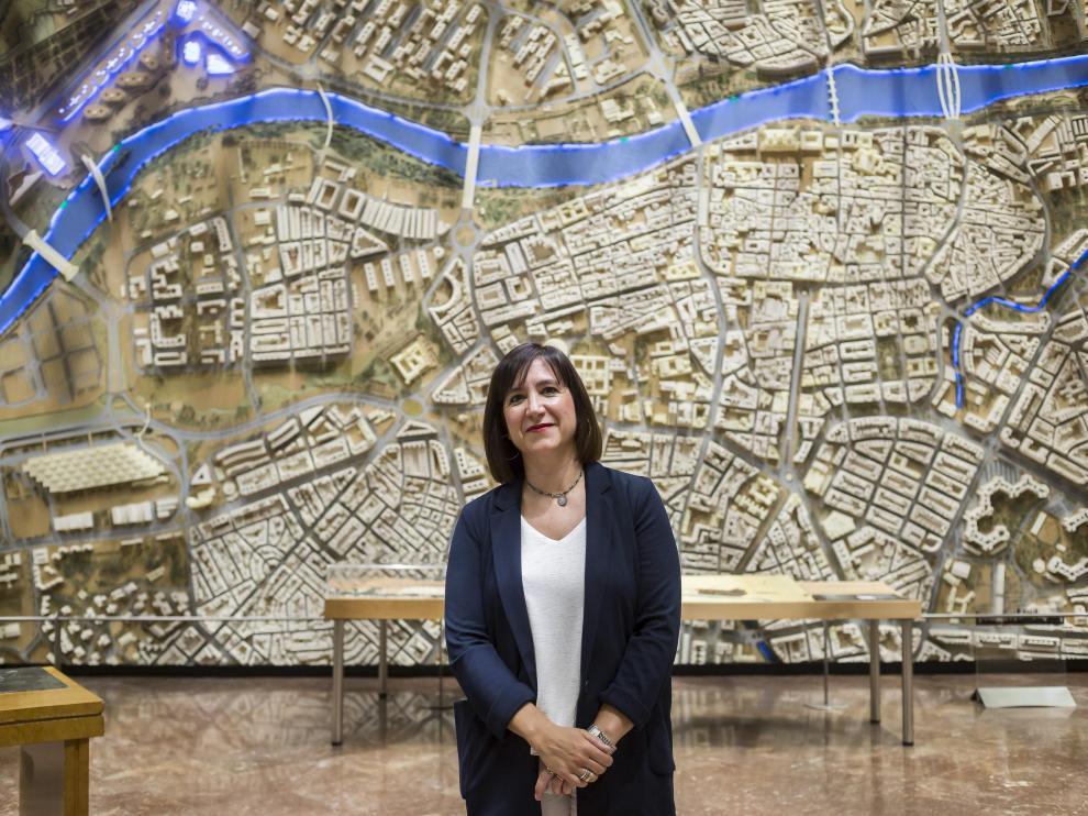 Sara Fernández, hace dos años en el Ayuntamiento de Zaragoza
