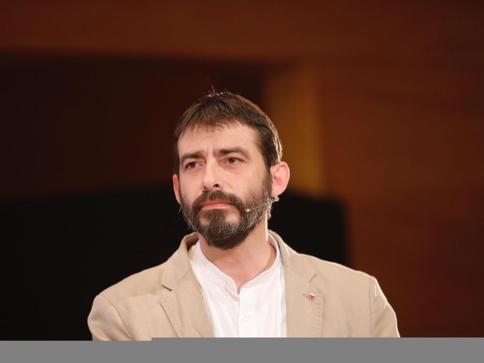 Álvaro Sanz, candidato de IU al Gobierno de Aragón.
