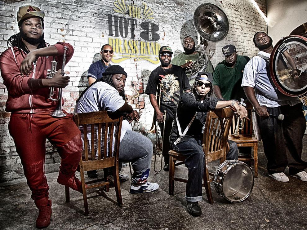 La Hot 8 Brass Band, uno de los grupos con más renombre del Slap! de este año.