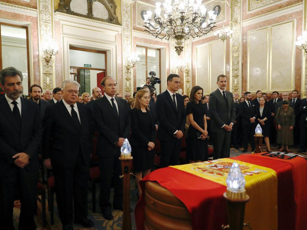 Capilla ardiente de Pérez Rubalcaba en el Congreso