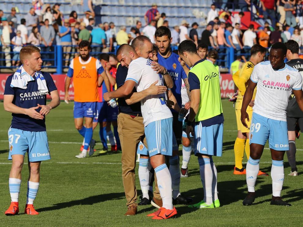 Partido disputado entre el Extremadura y el Real Zaragoza