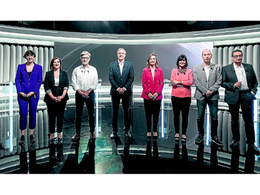 Los candidatos al Ayuntamiento de Zaragoza, el lunes en Aragón Televisión.