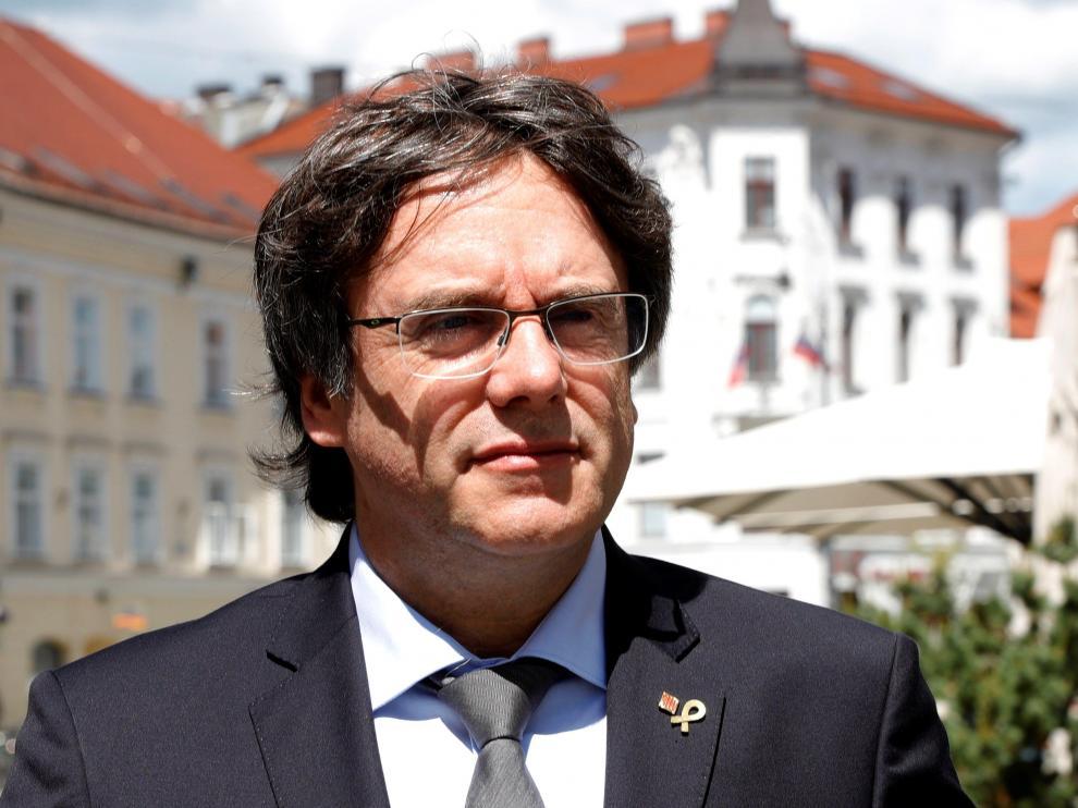 Puigdemont arranca su campaña a las europeas en Eslovenia.
