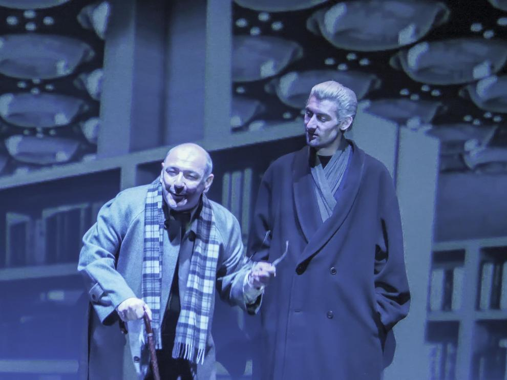 Un momento de los ensayos de 'El cielo sobre Berlín', que se estrena este jueves en el Principal.