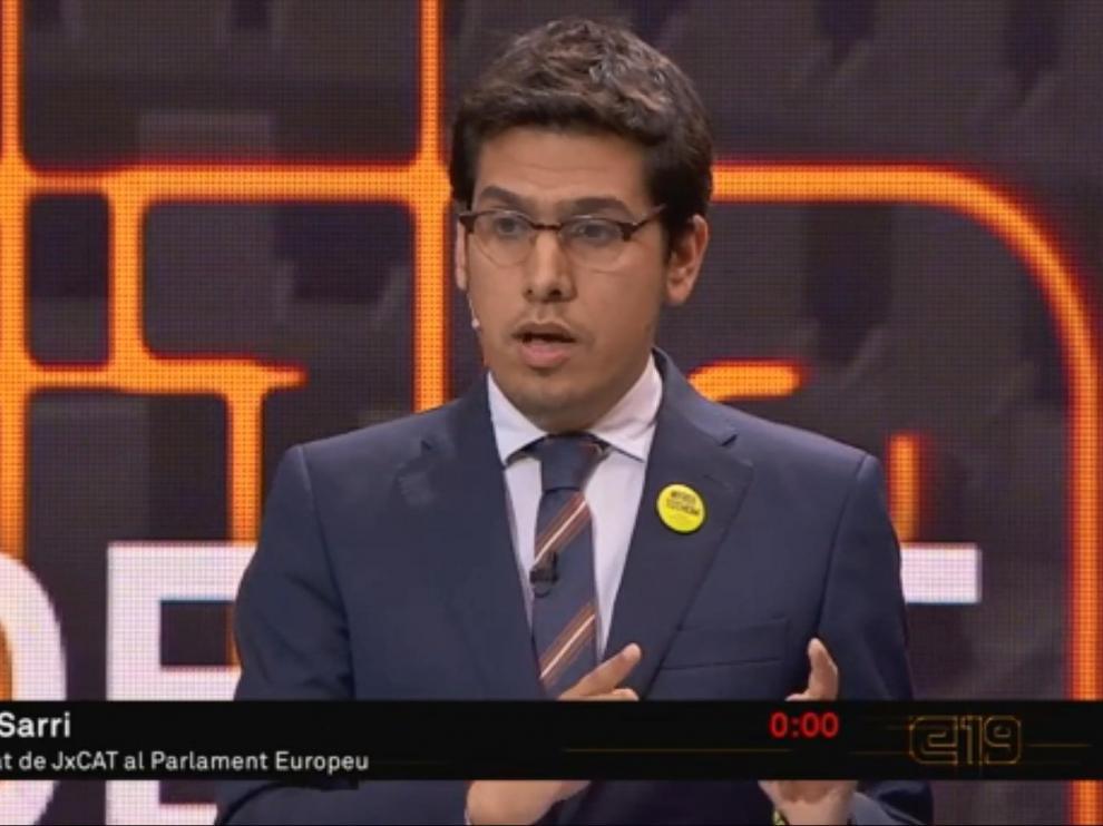 Sarri, durante su declaración al comienzo del debate en TV3.