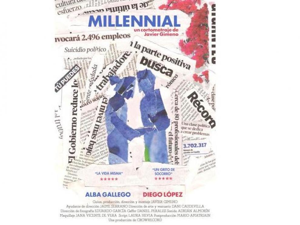 Cartel del cortometraje 'Millennial', de Javier Gimeno.
