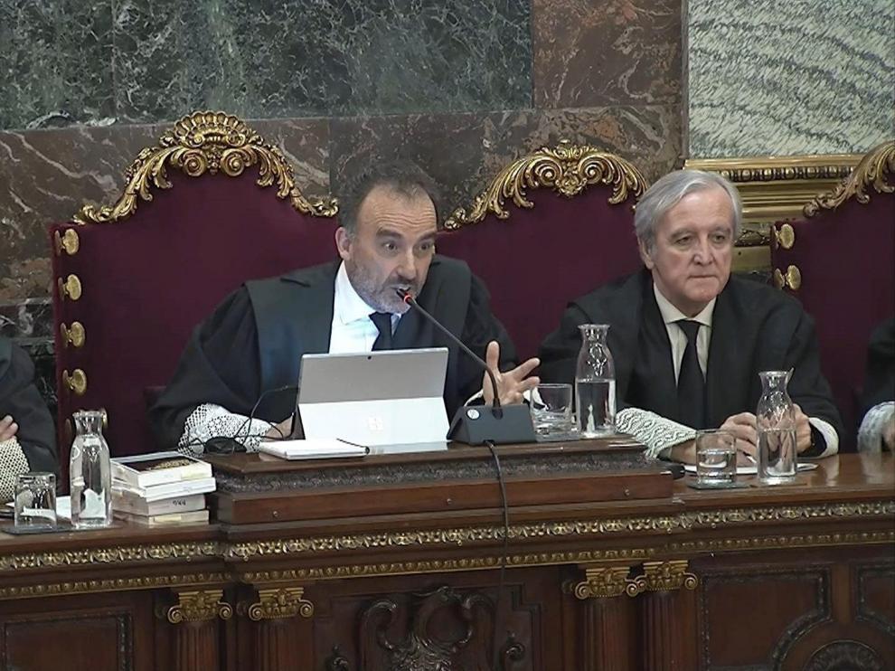 Imagen tomada de la señal institucional de Tribunal Supremo del presidente del tribunal Manuel Marchena
