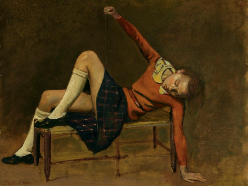La obra 'Thérèse sur une banquette', del pintor polaco-francés Balthus, se ha vendido por 17 millones.