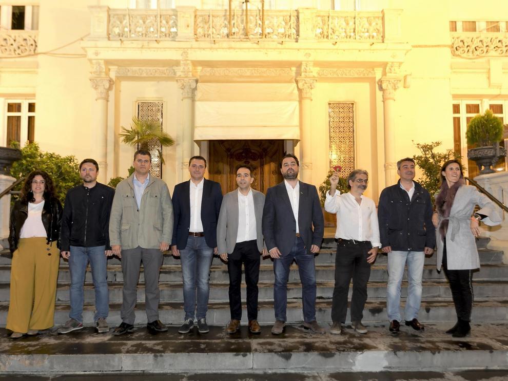 Los cabezas de lista de nueve de las 14 candidaturas autonomómicas de la provincia de Huesca