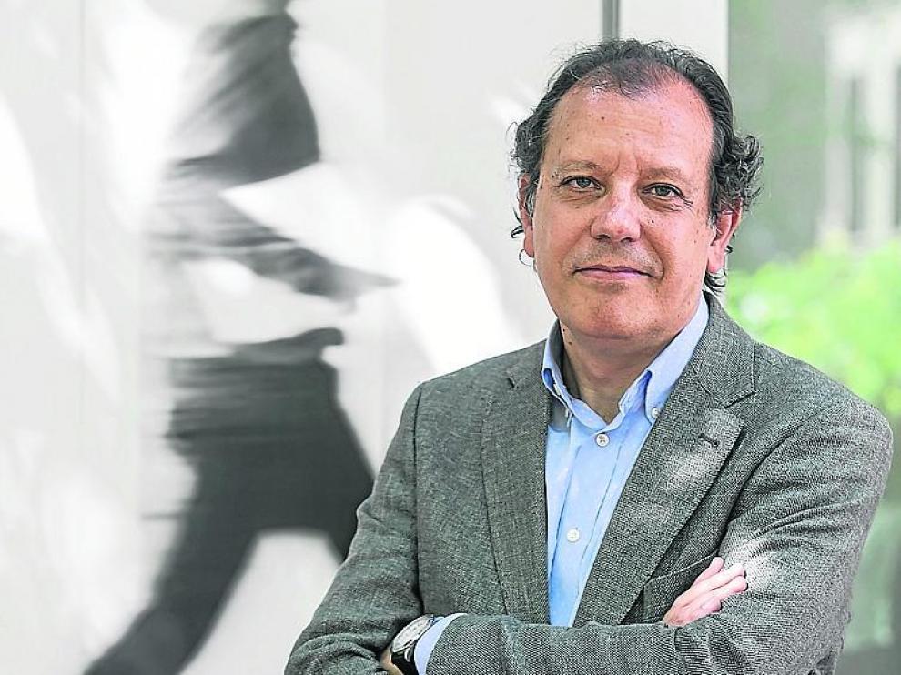 Fernando Rueda, el jueves en Zaragoza.