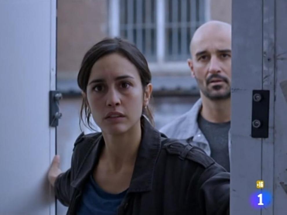La sargento Sara Campos, durante el último capítulo emitido ayer.