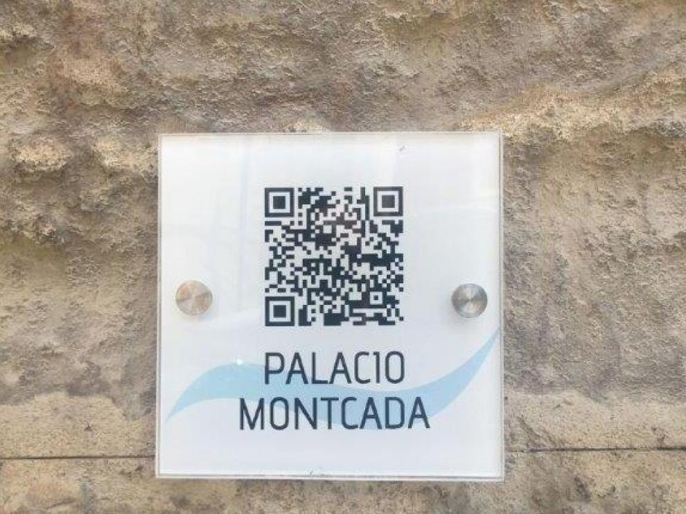 El palacio de Montcada es uno de los enclaves con código QR.