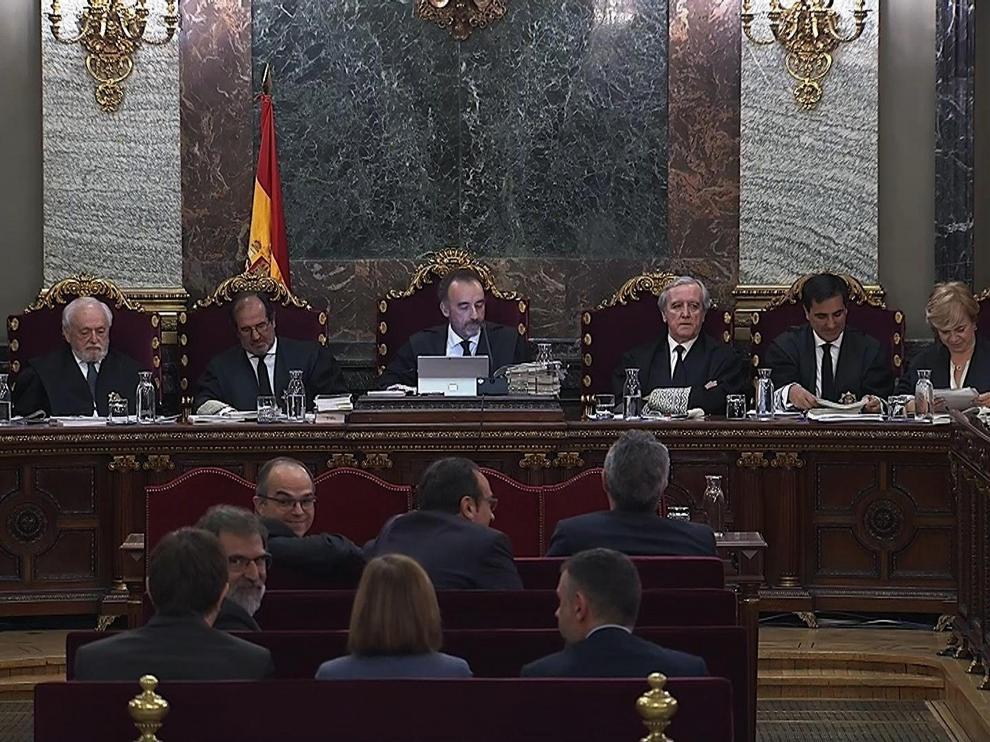 Imagen de la sesión de este jueves del juicio del procés.
