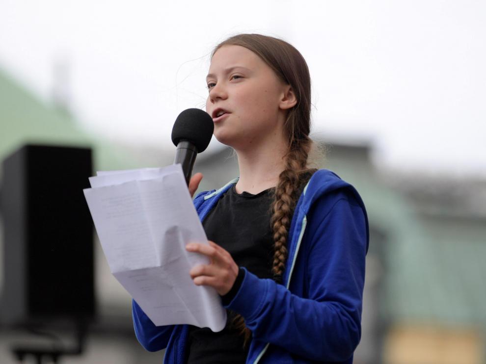 Manifestaciones contra el cambio climático en Suecia, con la joven activista Greta Thunberg.