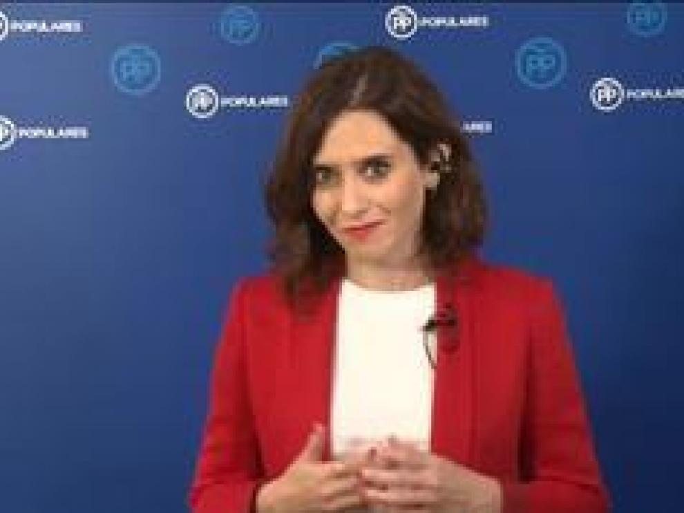 """La candidata del PP en la Comunidad de Madrid, contenta """"por Madrid y por España"""""""