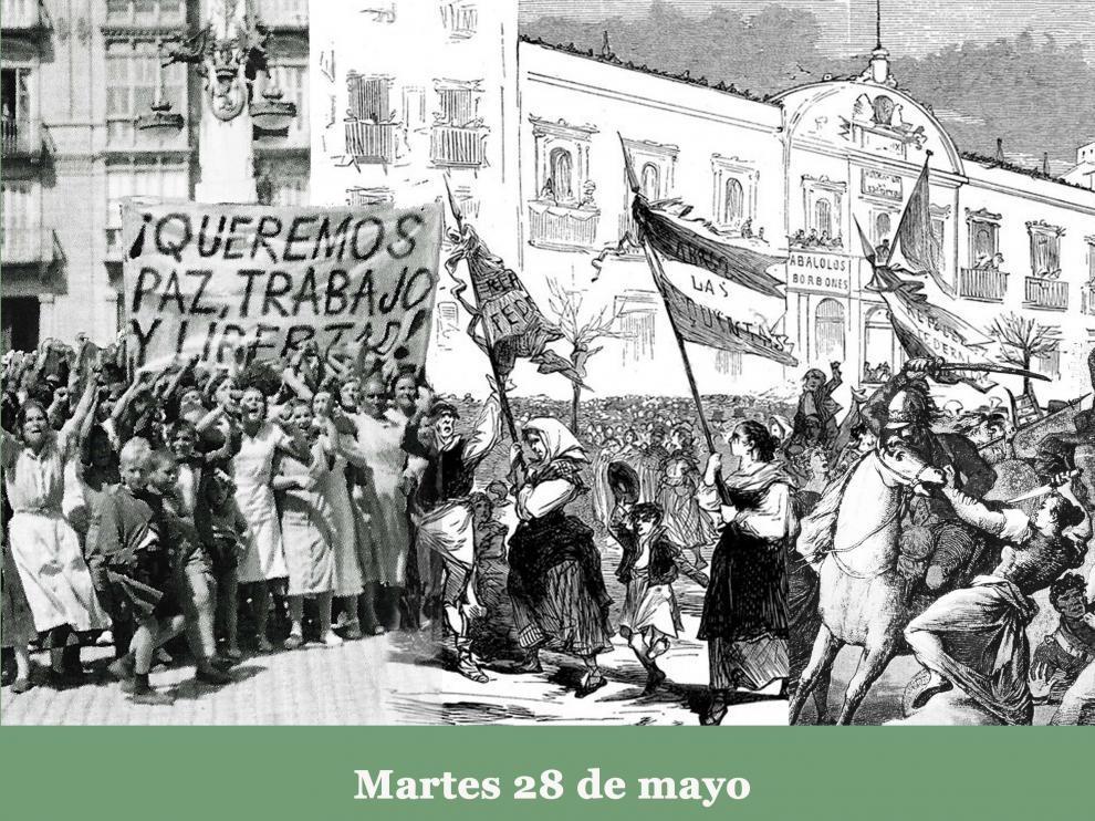 Cartel del ciclo de conferencias 'Zaragoza amotinada'.