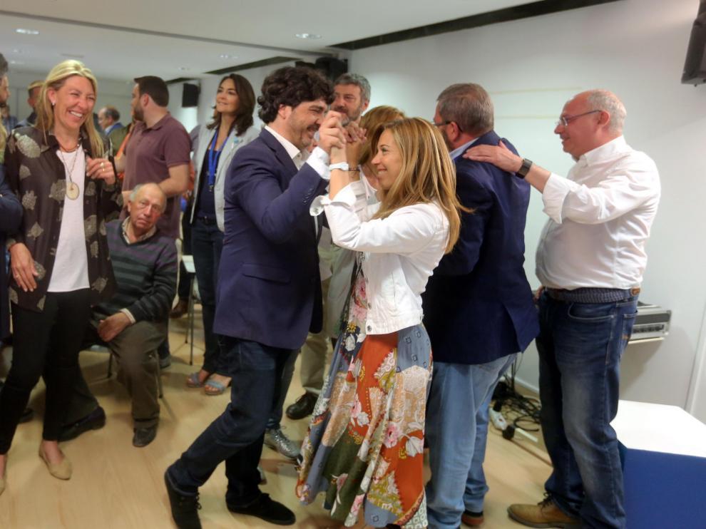 Celebración en la sede del PP de Huesca