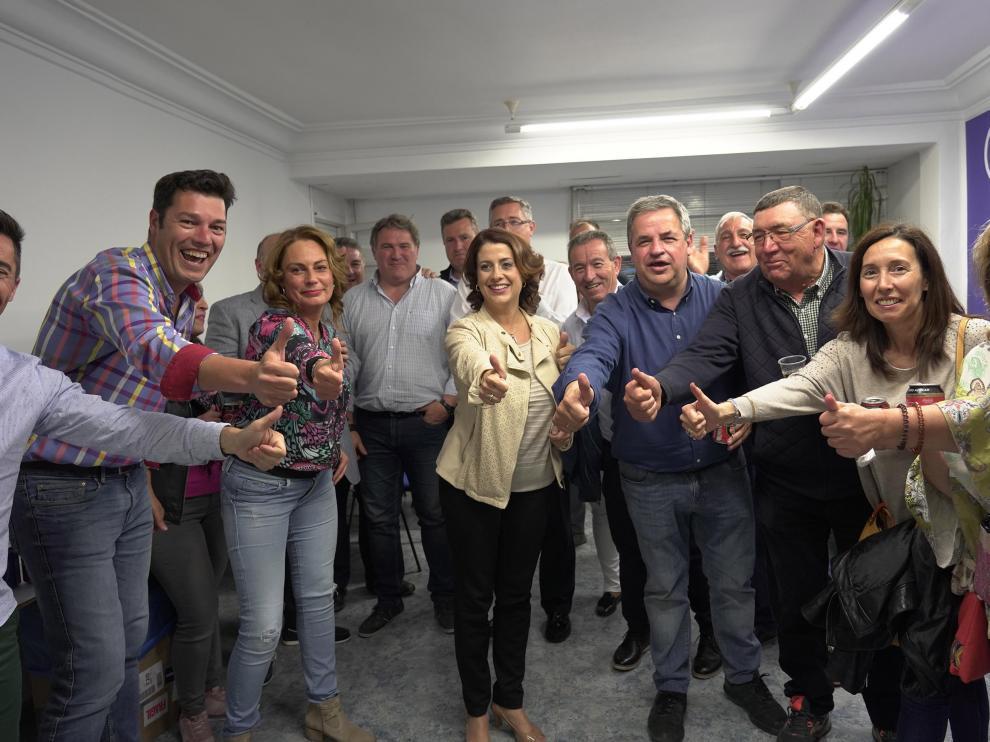 Celebración en la sede del PP de Teruel