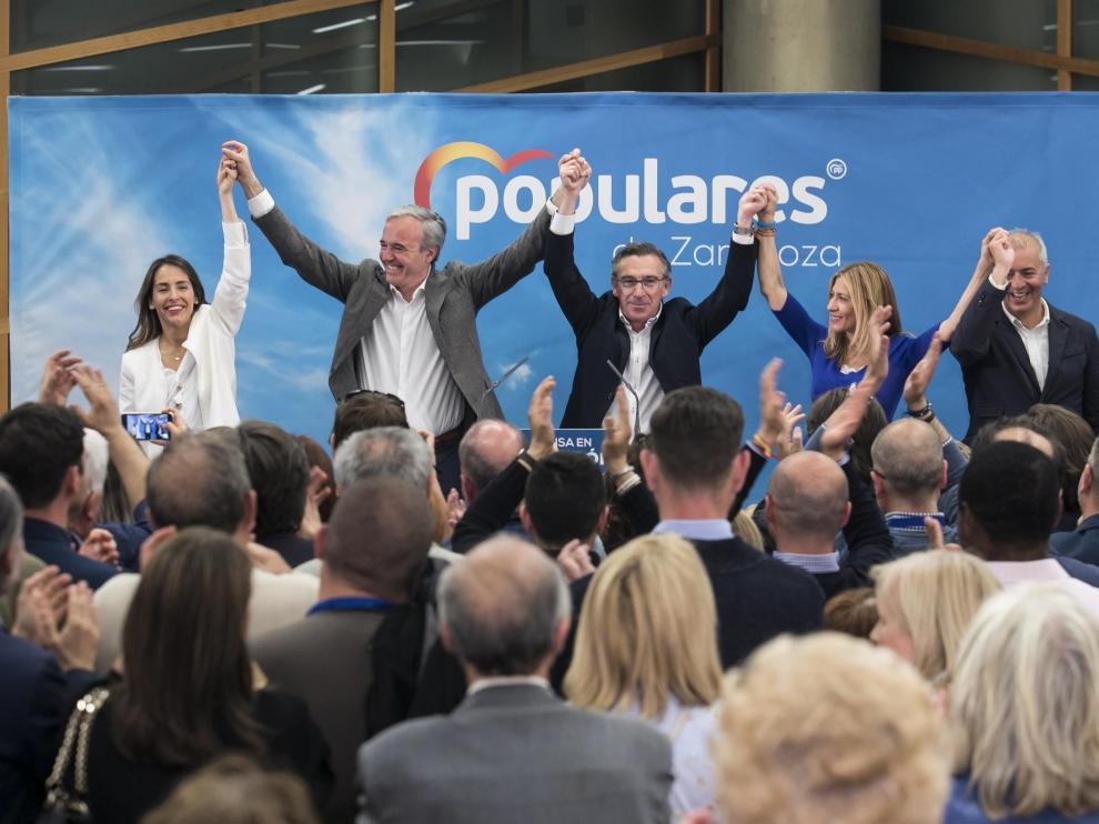Celebración en la sede del PP