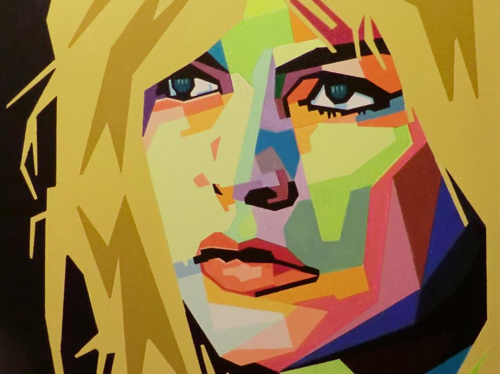 Brigitte Bardot, según la visión del pintor zaragozano-tinerfeño José Emilio López