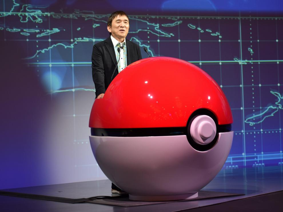 Tsunekazu Ishihara, chief executive of the Pokemon Company, speaks at a news conference in Tokyo, Japan May 29, 2019.  REUTERS/Sam Nussey [[[REUTERS VOCENTO]]] JAPAN-POKEMON/