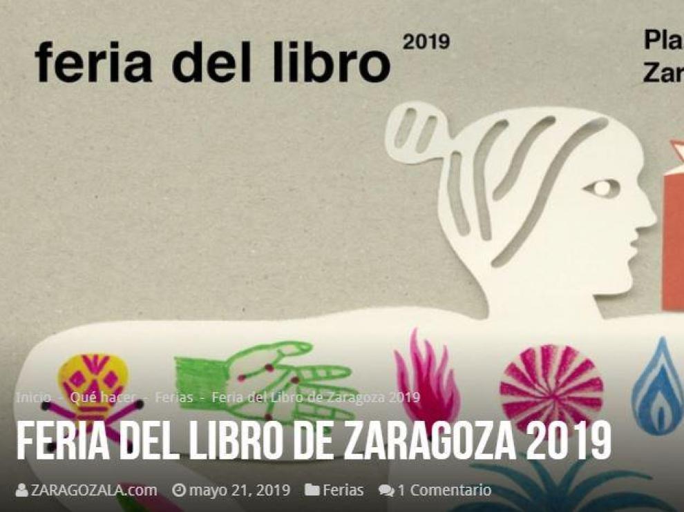 Cartel de la Feria del Libro de Zaragoza