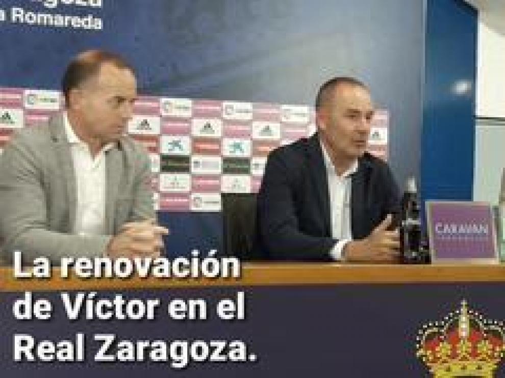 """El entrenador del Real Zaragoza subraya que su cambio de opinión y su continuidad en el proyecto del año que viene se sustenta en """"una cuestión sentimental""""."""