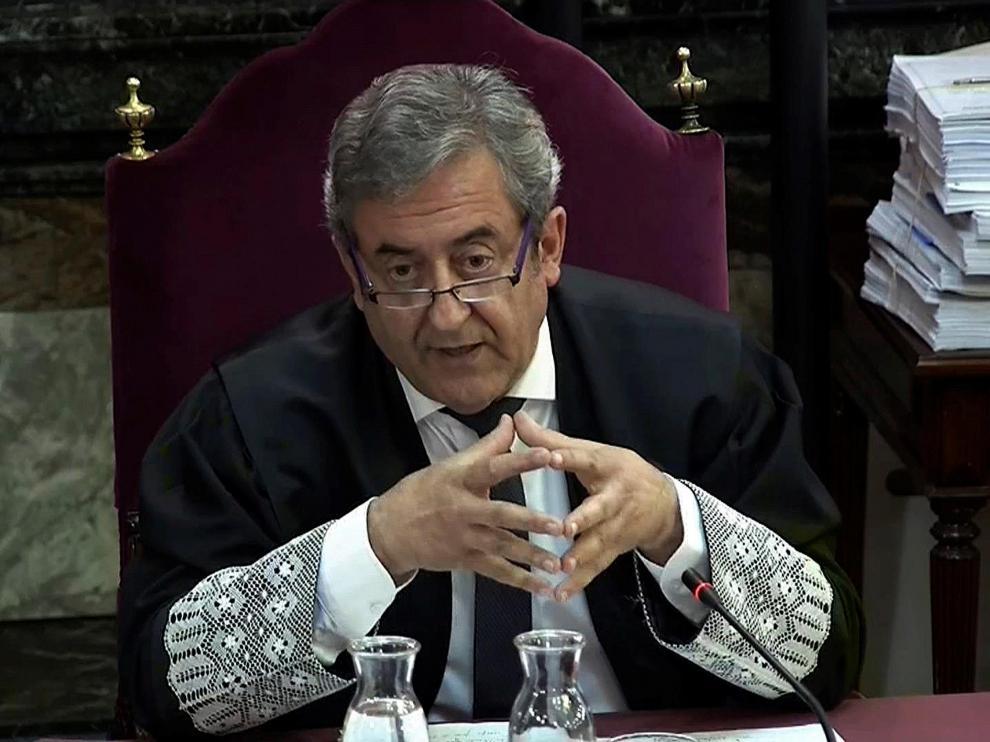 El fiscal Zaragoza, este martes en el juicio del 'procés'