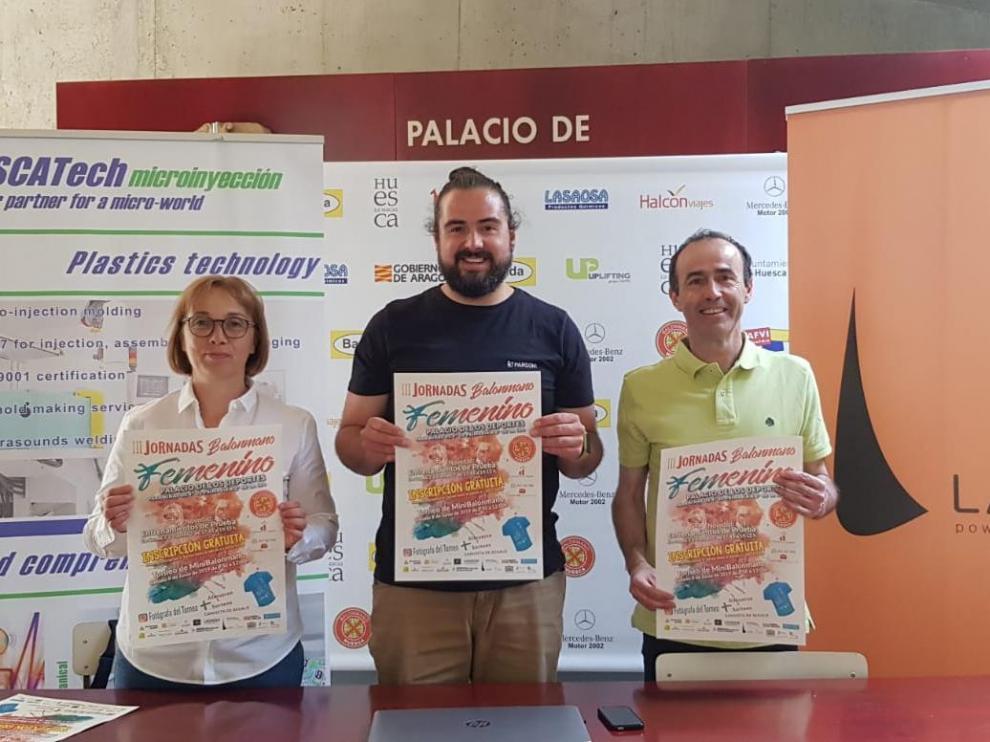 Presentación de las III Jornadas de Balonmano Femenino de Huesca.