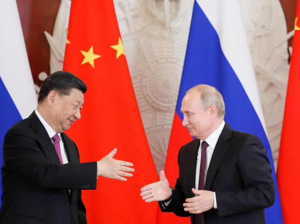 Los presidentes de Rusia, Vladímir Putin, y China, Xi Jinping.