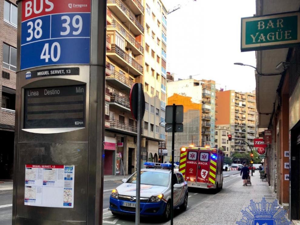 Imagen publicada en Twitter por la Policía que muestra el lugar del accidente.