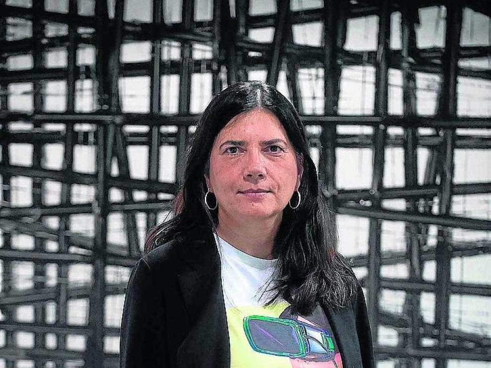 Mavi Sánchez-Vives, ayer en Ibercaja Patio de la Infanta. Francisco jiménez