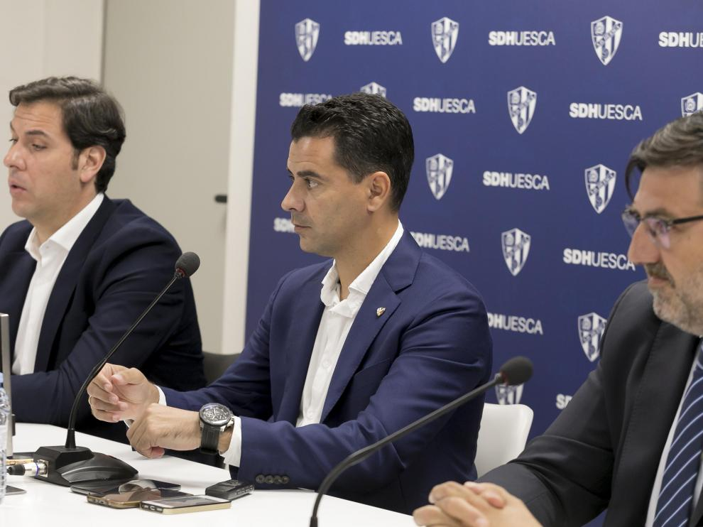 Rubén García, Míchel Sánchez y Manuel Torres.