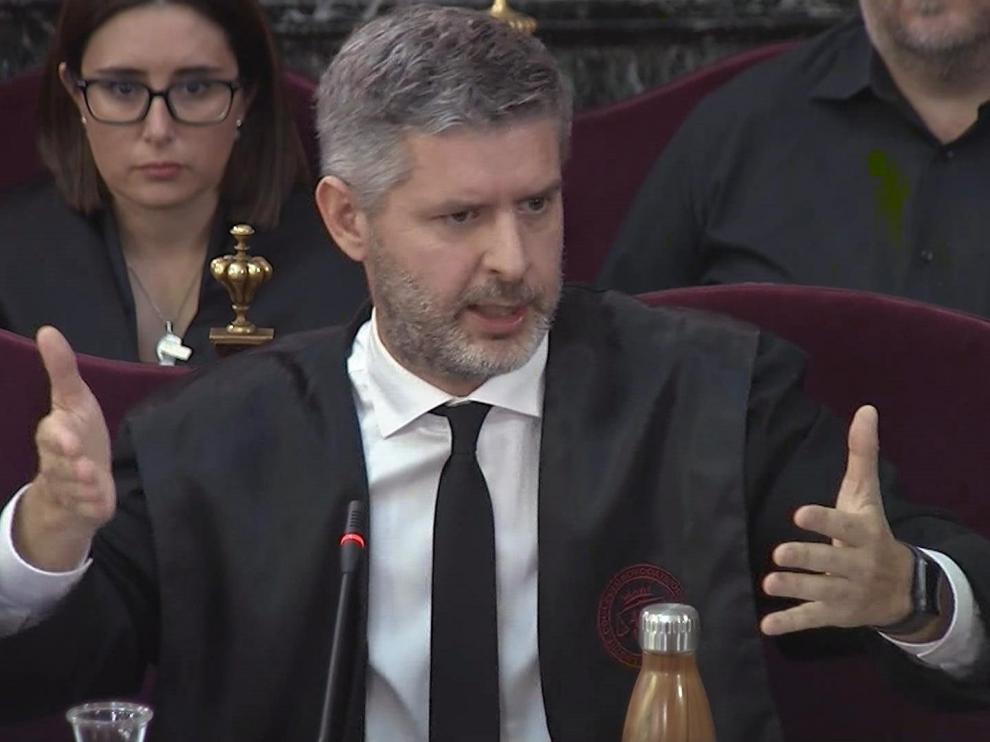 El abogado Andreu Van den Eynde, que defiende a Oriol Junqueras y a Raül Romeva.