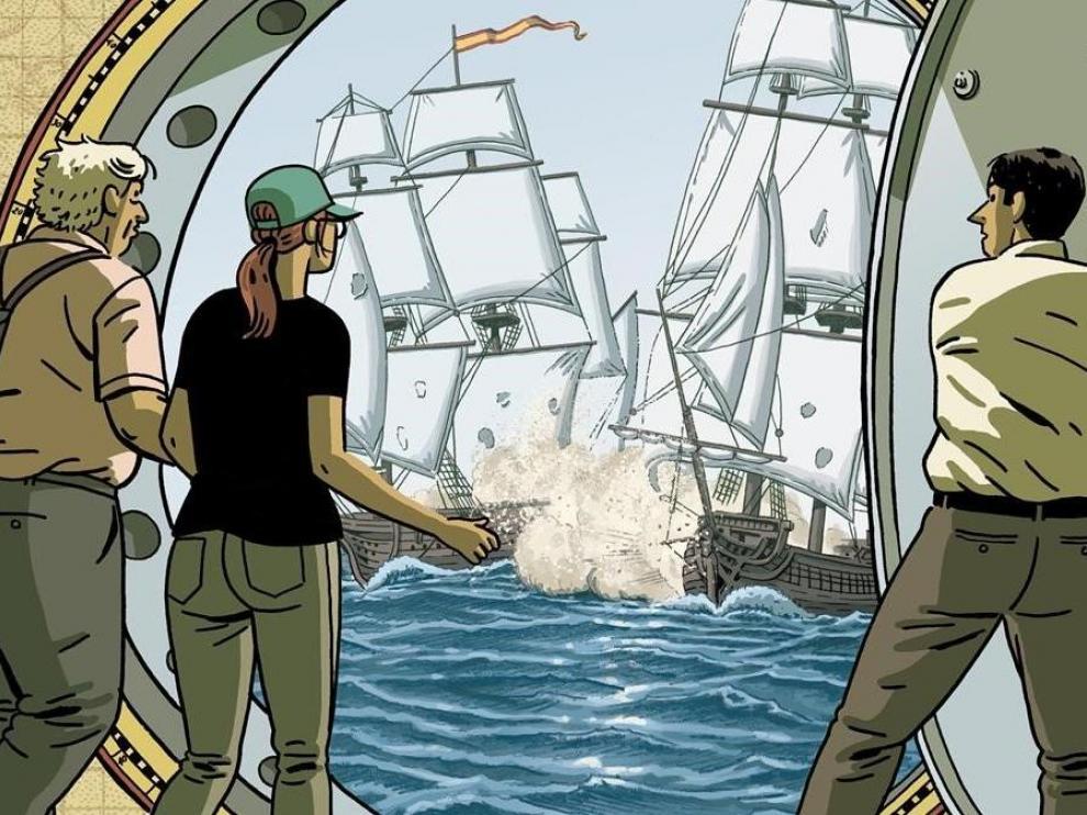 Fragmento de la portada de 'El tesoro del cisne negro', de Paco Roca.