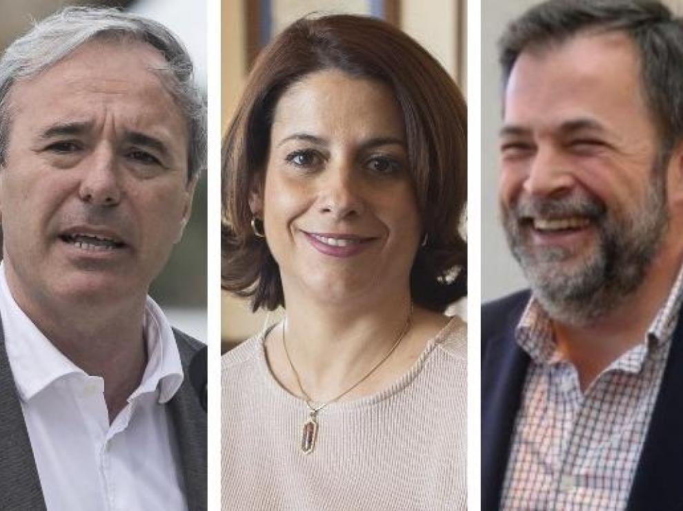 Jorge Azcón será alcalde de Zaragoza, Emma Buj repetirá como alcaldesa de Teruel y José Luis Cadena será alcalde de Huesca.