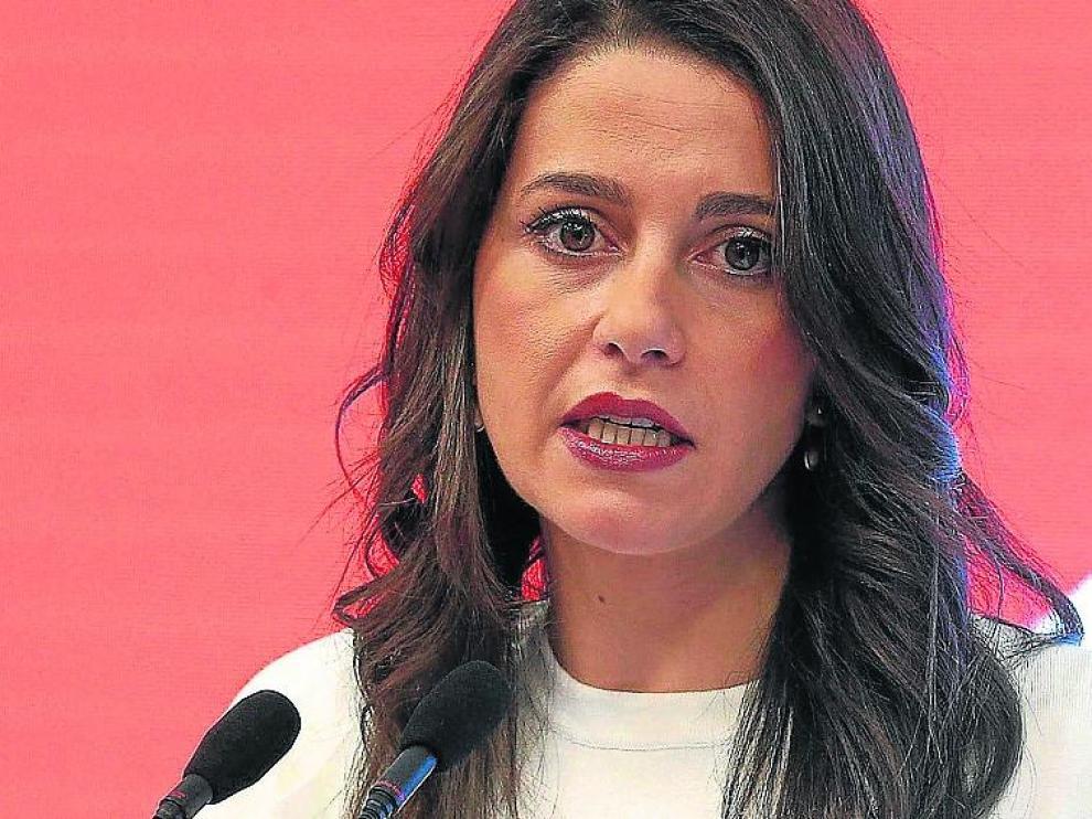 Inés Arrimadas, portavoz de Cs en el Congreso, este lunes.